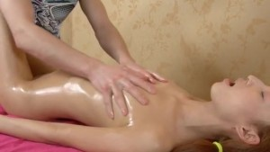 young asian fucked on a massage table