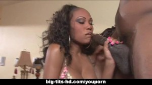 Beautiful ebony babe fucked hard and deep