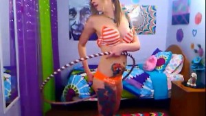 Sexy Punk Teen Hula Hoops Nude