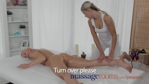Massage Rooms Horny young lesbians enjoy oily finger fucking before orgasm