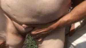 Busty fatty double-fucked raw