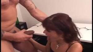 crazy amateur brunette eats ass and then takes a load all over