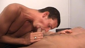 Stud Get Jized All Over His Chest - Factory Video