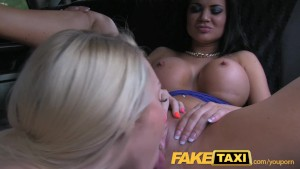 FakeTaxi Hot sexy taxi foursome gangbang