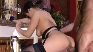 Brunette Gets Laid On The Bar - Telsev
