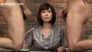 Japanese News Anchor Gets Facial Cum