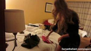 Hottie Samantha s behind the scenes footage