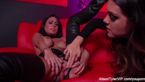 Red room and red strap-on action