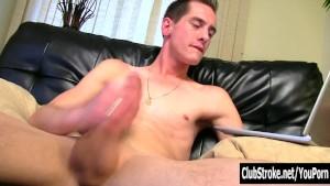 Straight Guy Sebastian Wanking His Huge Cock
