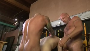 Threesome Muscle Fuck - Factory Video