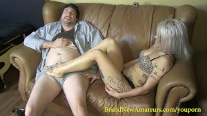 BrandNewAmateurs Lucky Larry Takes Ruby Octroi s Footjob Virginity
