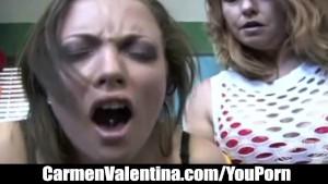 Young Carmen Valentina rides Mature MILF Dee Delmar s Sybian