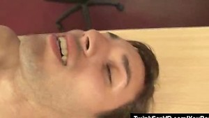 Cock Drilling Twink Finishes Off With A Cumshot