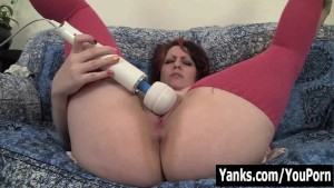 Chubby Hannah Vibrating Her Pussy