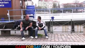 Gay game for straight hunky skater