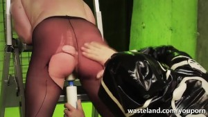 Slave girl shows good behaviour and sucks her masters cock