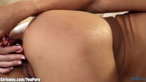 Girlsway Sara Luvv Lesbian Ass Licks and Toys Teen