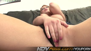 HDVPass Solo queen Aurora Snow fingers her vagina