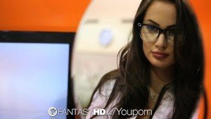 HD FantasyHD - Naughty secretary Lily Carter fucks in the office