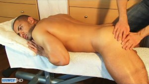 Farid a very sexy masculine arab guy gets wanked his huge cock by a guy!