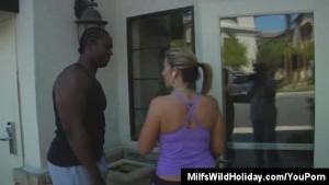 Milf Sara Jay Brings A Black Stud To Her Hotel