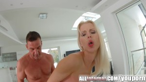 All Internal Stunning blonde gets messy creampie