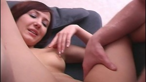 Small Titted Brunette Teen Fisted And Fucked