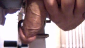 Delivery guy gets wanked his huge cock by a client in spite of him !