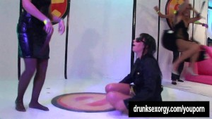 Wet sluts dancing and fucking toys at a party