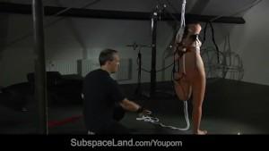 Japanese young slut bondaged and rough pained