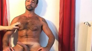 Sexy Gym club s trainer gets wanked by us in spite of him !