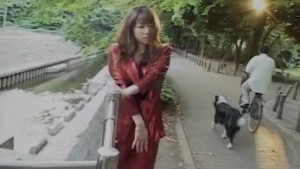 Mirai Hirooka shows her huge cans and sucks boner in nature