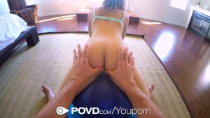 POVD - Bree Mitchell stretches her lean body before getting fucked