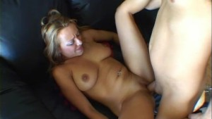 Teen whore squirts on his cock