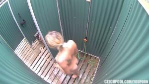 Luxury Teen Blonde Caught in Shower