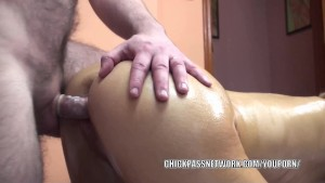 Innocent coed Lina is getting nailed by a lucky old dude