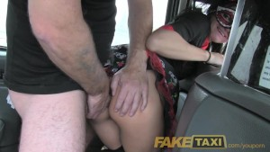 FakeTaxi Lady in fancy dress does anal on halloween