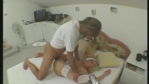 Nurse Fucks Her Stocking Clad Patient
