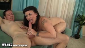 WANKZ - Curvy Step-Mom Gets Cum All Over Her Lips!