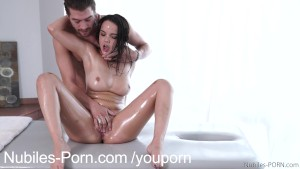 Nubiles Porn - Erotic massage leads to squirting orgasm