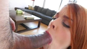 ThisGirlSucks - Spanish Redhead Deepthroats Big Cock