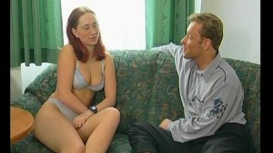 Redhead has a nice conversation... without her clothes - Julia Reaves
