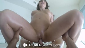 POVD - Sexy Chritiana Cinn comes home to a surprise massage