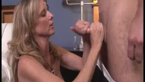 Step-mom s Early Home, Caught Young Guy Beating His Dick