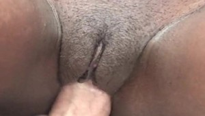 Ebony amateur casting with a white guy