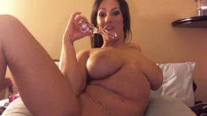 Big Tit Amateur Loves Filling All Of Her Holes
