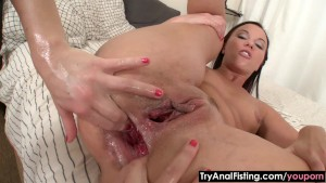 Try Anal Fisting - Lesbian double anal fist-fuck