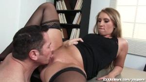 Hot Secretary Will Do Anything for Raise!