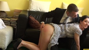 Spanked british sub riding maledoms cock