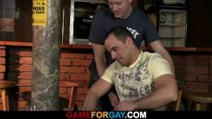 He seduces and fucks hetero bartender